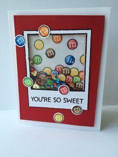 Lawn Fawn Sweet Smiles M&M Shaker Card by Mandy Reedyk #LawnFawn #ShakerCard
