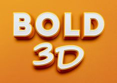 Bold 3d Text Effect  :: Download Free PSD Files