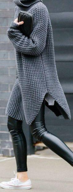 Grey knitwear jumper