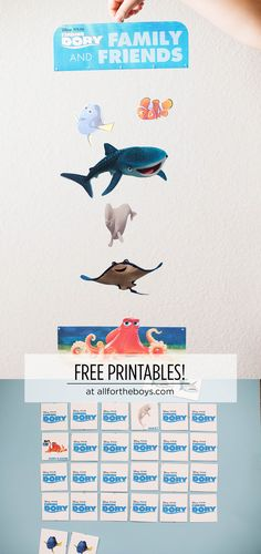 Finding Dory printable mobile and matching game