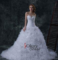 Ruffles Wedding Dress,Organza Wedding Dress,A Line Wedding Dress,Sweetheart Wedding Dress,High Quality Wedding Dress,WD1003
