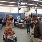[Self] Myself as Trex in my jeep meets Indiana Jones at Northeast Comic Con