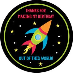 Space Birthday Party Invitations & Party Pack | PTO ...