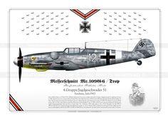 """Messerschmitt Bf """"White of Oberfeldwebel Wilhelm Mink, Sardinia, Italy, 1943 Air Fighter, Fighter Pilot, Fighter Jets, Ww2 Aircraft, Fighter Aircraft, Military Aircraft, Luftwaffe, German Soldiers Ww2, War Thunder"""