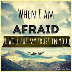 Psalm 56:3 (KJV)  3 What time I am afraid, I will trust in thee.