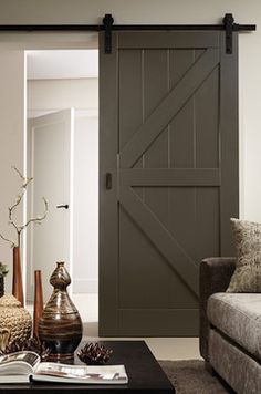 Barn doors today are becoming part of interior decoration in many houses because they are stylish. When building a barn door on your own, barn door hardware kit Interior Sliding Barn Doors, Sliding Barn Door Hardware, Sliding Doors, Rustic Hardware, Window Hardware, Entry Doors, Interior Design Courses Online, Door Design Interior, Home Remodeling