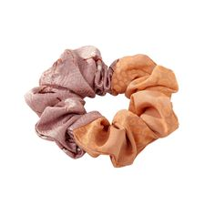 Silk cloud/ scrunchie made from vintage silk.  very limited edition and small indifferences from picture may be.  Handmade in Denmark  One size   silk - hand wash only  color : rose/peach