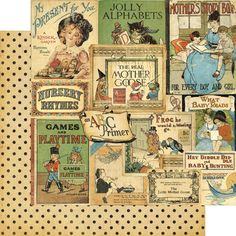 Graphic 45 - An ABC Primer Collection - 12 x 12 Double Sided Paper - Bedtime Stories at Scrapbook.com $1.09