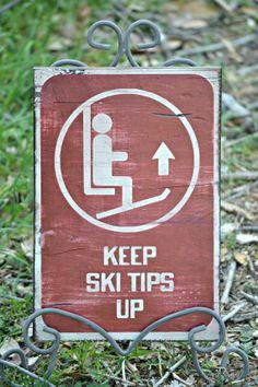 Skiing Ski Lift Keep Ski Tips Up  Vintage by DollickDesigns, $26.99