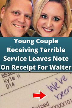 Young #Couple Receiving Terrible #Service Leaves Note On #Receipt For Waiter