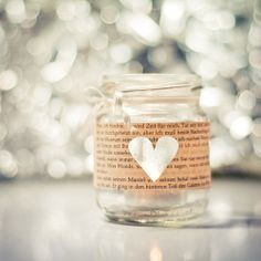 Shiny Heart - Heart 28 by DorottyaS on DeviantArt Diy Presents, Diy Gifts, Holiday Fun, Holiday Gifts, Candle Jars, Mason Jars, Valentines Surprise, Homemade Crafts, Inspirational Gifts