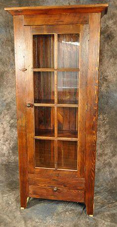 Rustic Reclaimed Wood 8 Pane Glass Door Cupboard with Drawer Wooden Glass Door, Glass Front Door, Front Door Decor, Glass Doors, Reclaimed Wood Furniture, Reclaimed Barn Wood, Wood 8, Rustic Furniture, Industrial Furniture