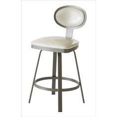 "30"" White and Silver Bar Stool | Nebraska Furniture Mart"