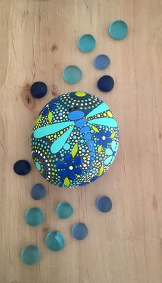 Rock Art, Dragonfly Design, Dragonfly Art, Hand Painted Rocks, Painted Stone, Stone Art, Nature Art, by ethereal & earth, FREE USA Shipping.