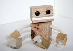 Block Bot - Wooden Toy Robot. $8.00, via Etsy.