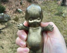 Solid Brass Kewpie - Heavy Brass Kewpie Doll Doll Toys, Dolls, Kewpie Doll, My Tea, Solid Brass, Eyes, History, Party, Cute