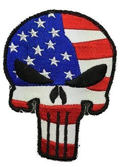 Velcro Tactical Punisher Skull USA Flag Patch - By Patch Squad