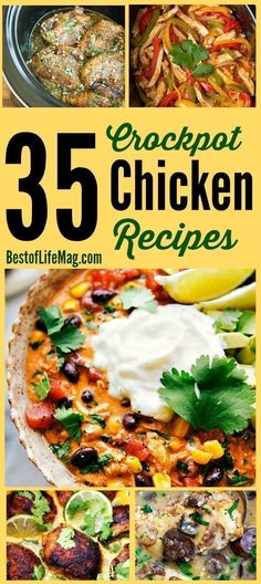 The crockpot is capable of making some amazing meals for the family, but these  best crockpot chicken recipes are above the rest.