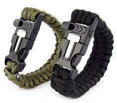 Paracord Survival Bracelet Fire Starter (Free Shipping)