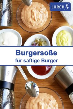 Hamburger Sauce, Tabasco Pepper, Burger Co, Burgers And More, Side Recipes, American Kitchen, Ketchup, Healthy Drinks, Pesto
