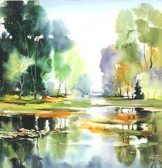 Akvarellkurs med Maria Ginzburg, Sverige