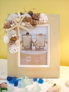 dress up a plain frame....                Annie's Seashell Ideas
