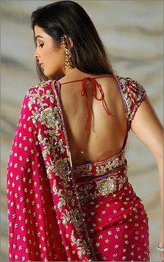 hot and pretty color sari