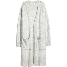 Long Cardigan $39.99 (51 AUD) ❤ liked on Polyvore featuring tops, cardigans, long sleeve tops, long ribbed cardigan, long sleeve cardigan, drop shoulder tops and ribbed long sleeve top