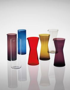 View Group of seven carafes by Kaj Franck sold at Nordic Design on London 26 September Learn more about the piece and artist, and its final selling price Nordic Design, Scandinavian Design, Glass Design, Design Art, Glas Art, Group Of Seven, Glass Ceramic, Modern Glass, Carafe