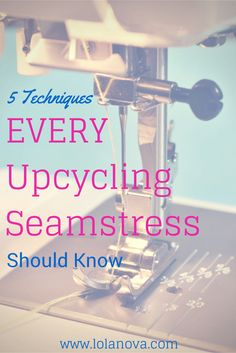5 Techniques Every Upcycling Seamstress Should Know: circle skirt, bias binding, basic ruffle, shirring with elastic thread, and a tailoring tutorial Sewing Lessons, Sewing Class, Sewing Hacks, Sewing Tutorials, Sewing Projects, Sewing Patterns, Sewing Tips, Sewing Ideas, Techniques Couture