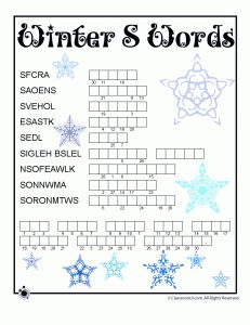 Winter Word Puzzles for Kids | Classroom Jr.