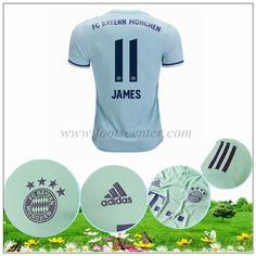 Footscenter  Maillot Bayern Munich James Rodriguez 11 Exterieur Gris-vert  2018 2019 60774a9ac