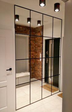 Home Room Design, Home Interior Design, Living Room Designs, Home Entrance Decor, House Entrance, Home Decor, Mirror Decor Living Room, Home Living Room, Wall Decor
