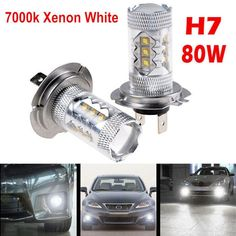 Shien(TM)2 X H7 80W CREE LED Fog DRL Driving Car Head Light Lamp Bulbs White Super Bright -- Awesome products selected by Anna Churchill