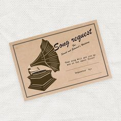 wedding song request card printable file by idoityourself