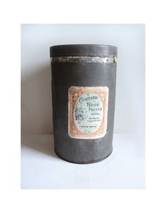 French Large Sweet Box Grey Box Hard Candy by LaBelleEpoqueDeco