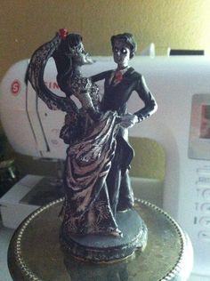 @Holly Hagen Cake topper? Zombie wedding cake topper statue zombie art by EleganceOfTheHeart
