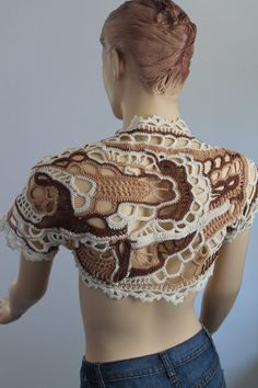 Reserved Freeform Crochet  Lace  Shrug Shawl  / by levintovich, $119.00