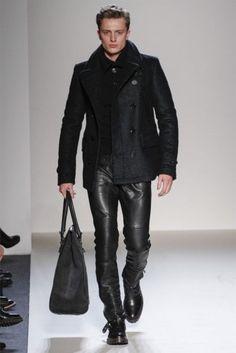 #Mens #Runway #Black #Leather #Pants