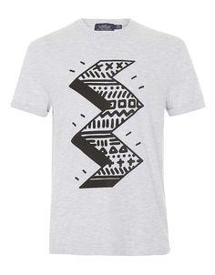 Grey Marl Zig Zag T-Shirt | Hudson's Bay