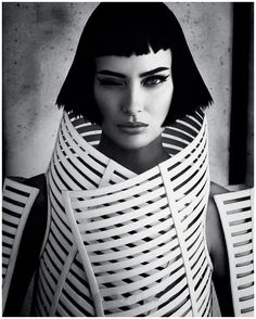 Shalom Harlow by Daniele Iango for i-D Magazine.