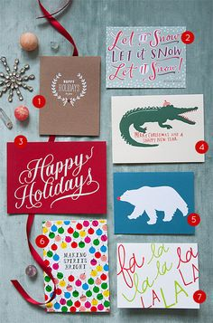 25 Holiday Cards To Spread The Cheer- From Design Sponge- my picture is featured on there!!!