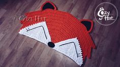 Fox Rug. Hand Crocheted. Made to Order by CozyHat on Etsy