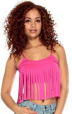 e97823bc7dddb Simplicity Women Basic Stretch Cami Bandeau Top w  Tassel