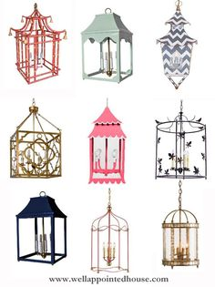 Favorite Lanterns from www.wellappointedhouse.com