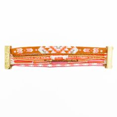 Bracelet Orange En Perles Et Lien Bresilien Hipanema Chance - Hipanema…