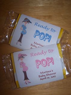 24 Personalized POPCORN Baby Shower Favor Labels