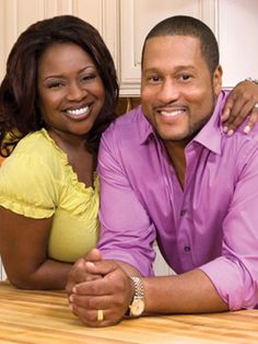 Pat and Gina Neely.  They have the BEST chicken noodle soup recipe!  And baked chicken.  I think they are so funny too on their show.