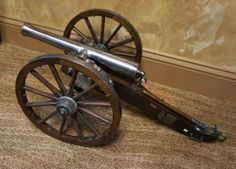 Spanish Jukar signal cannon, black powder, 1/4 scale.