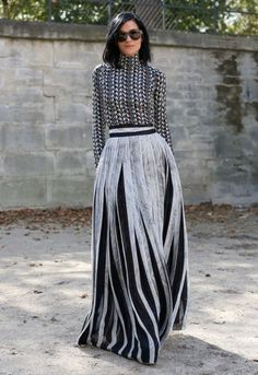 Pleated Maxi Skirts...lovely